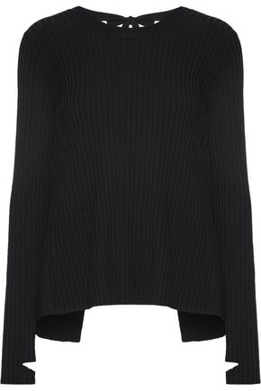 HELMUT LANG Cutout ribbed-knit sweater