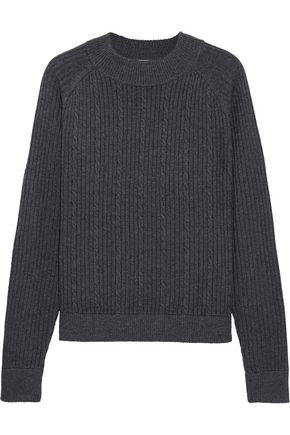 FRAME Cable-knit merino wool-blend sweater