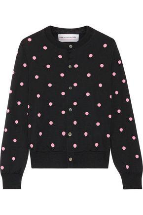 COMME DES GARÇONS GIRL Polka-dot wool-blend cardigan
