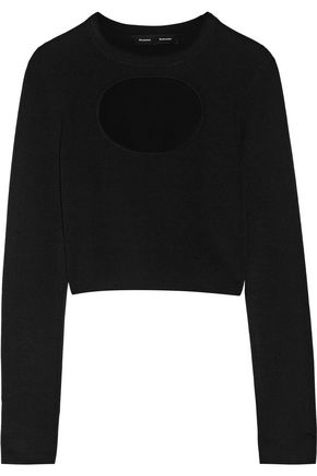 PROENZA SCHOULER Cutout silk-blend sweater
