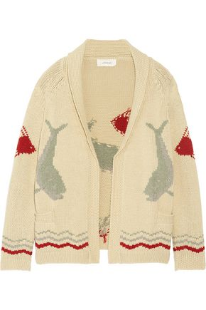 THE GREAT. The Fisherman intarsia cotton-blend cardigan