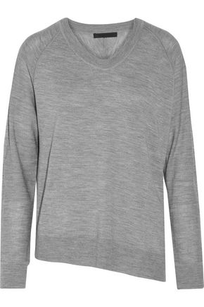 ALEXANDER WANG Asymmetric merino wool sweater