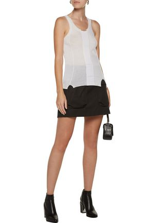 ALEXANDER WANG Paneled merino wool-blend tank