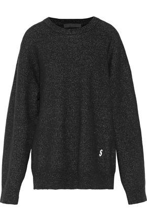 ALEXANDER WANG Embroidered stretch-knit sweater