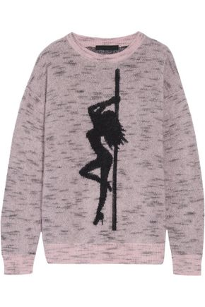 ALEXANDER WANG Jacquard-knit mohair-blend sweater