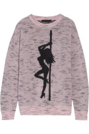 ALEXANDER WANG Jacquard-knit mohair-blend sweater