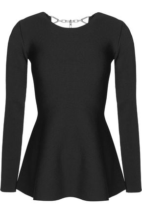 ALEXANDER WANG Fluted stretch-knit top