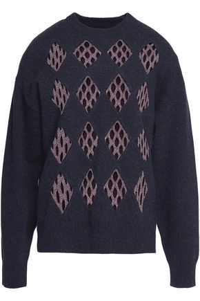 ALEXANDER WANG Cutout wool-blend sweater