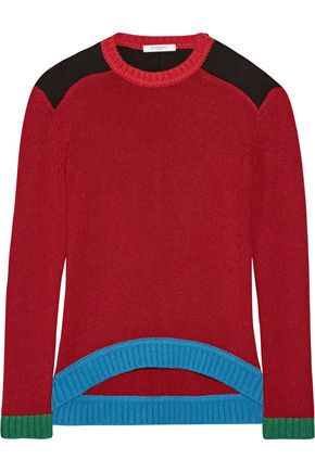 GIVENCHY Color-block wool sweater