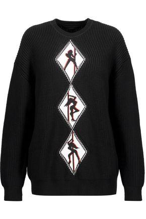 ALEXANDER WANG Intarsia-knit merino wool sweater