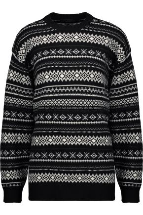 ALEXANDER WANG Cutout intarsia wool-blend sweater