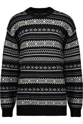 ALEXANDER WANG Cutout intarsia wool-blend sweater