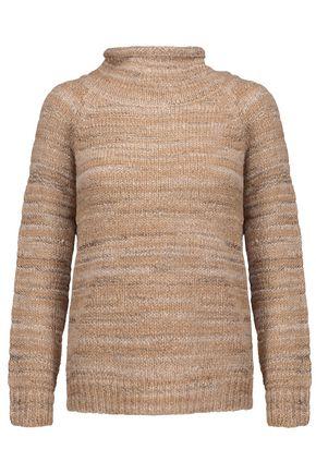 JOIE Charis metallic marled stretch-knit turtleneck sweater