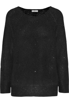 JOIE Emari sequin-embellished stretch-knit sweater