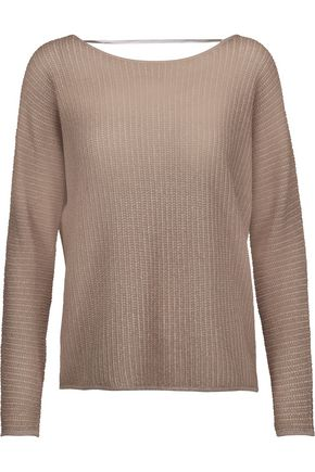 JOIE Kerenza metallic stretch-knit sweater