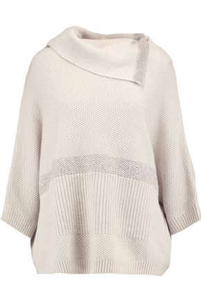 DUFFY Cable-knit wool and cashmere-blend turtleneck sweater