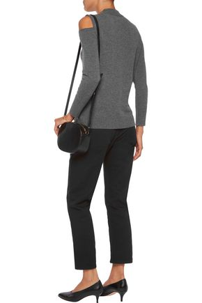 IRIS AND INK Diana cold-shoulder cashmere sweater