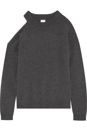 IRIS & INK Freya cutout wool and cashmere-blend sweater