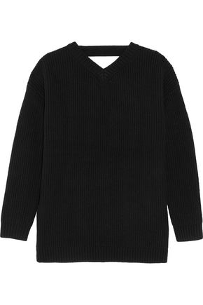IRIS AND INK Andy cutout merino wool sweater