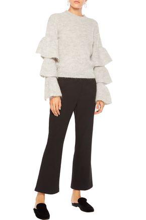 IRIS AND INK Talula tiered alpaca-blend sweater