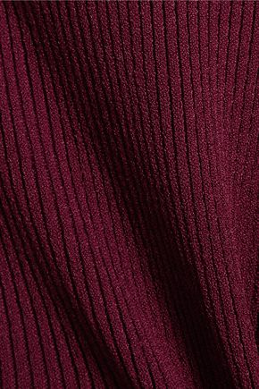 OSCAR DE LA RENTA Ribbed-knit turtleneck sweater