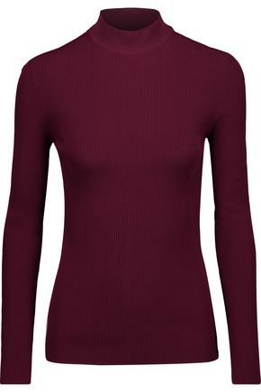 OSCAR DE LA RENTA Ribbed-knit turtleneck sweater