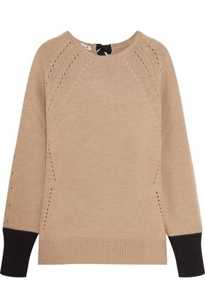 OSCAR DE LA RENTA Cable-knit wool sweater