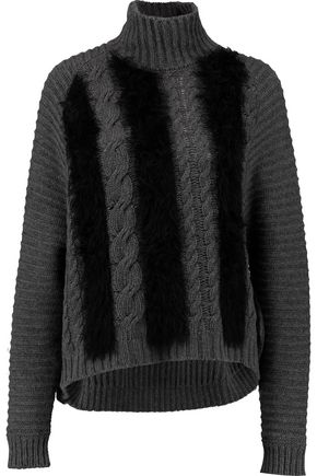 JUST CAVALLI Wool-blend turtleneck sweater