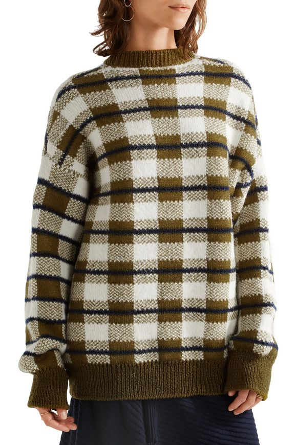 Oversized checked chunky-knit sweater | JOSEPH | Sale up to 70% off | THE  OUTNET