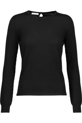 OSCAR DE LA RENTA Cashmere and silk-blend sweater