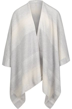 DUFFY Draped striped cashmere wrap