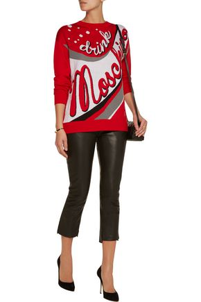 MOSCHINO Intarsia-knit wool sweater