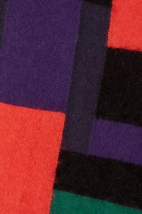 BALMAIN Color-block wool-blend sweater