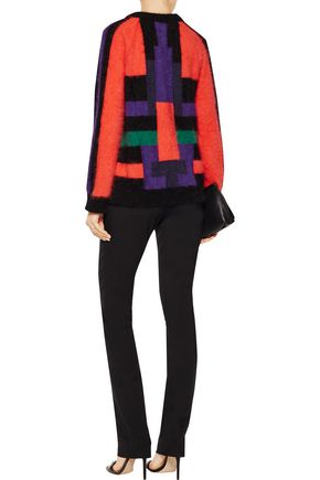 BALMAIN Color-block wool-blend sweater