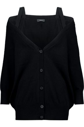 THEORY Off-the-shoulder cashmere cardigan