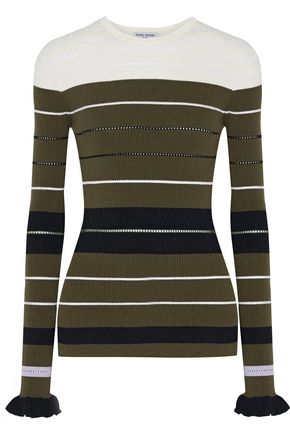 OPENING CEREMONY Striped pointelle-knit sweater