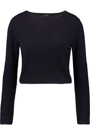 RAG & BONE Kara paneled silk-blend and merino wool sweater