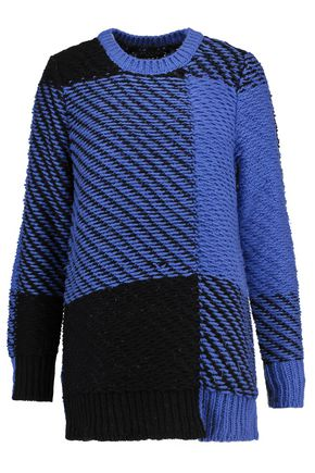 RAG & BONE Jessa two-tone cotton and wool-blend sweater