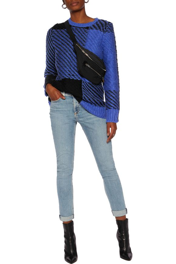 Jessa two-tone cotton and wool-blend sweater | RAG & BONE | Sale up to 70%  off | THE OUTNET