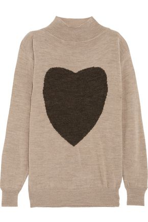 VIVIENNE WESTWOOD ANGLOMANIA Intarsia-knit turtleneck sweater