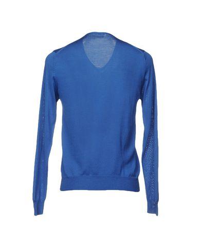 Фото 2 - Мужской свитер  ярко-синего цвета