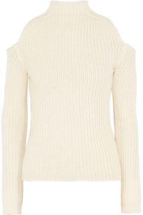 75dfc7d4dc711f MAJE Cold-shoulder wool-blend sweater ...