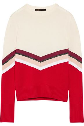 MAJE Striped wool sweater