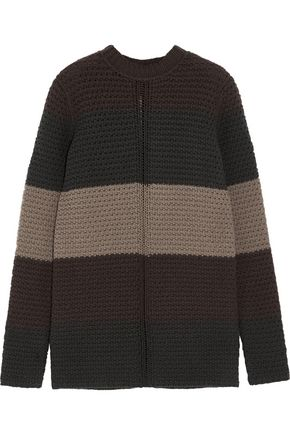 RICK OWENS Striped chunky-knit wool sweater