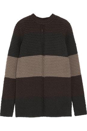 RICK OWENS Striped chunky-knit wool sweater