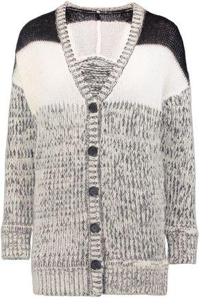JUST CAVALLI Brushed mélange chunky-knit cardigan
