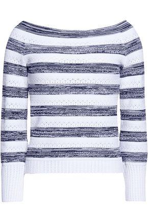 OSCAR DE LA RENTA Pointelle-knit sweater