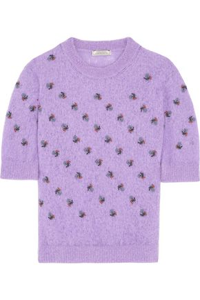 NINA RICCI Embroidered alpaca-blend sweater