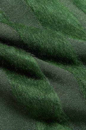 NINA RICCI Paneled stretch-knit sweater