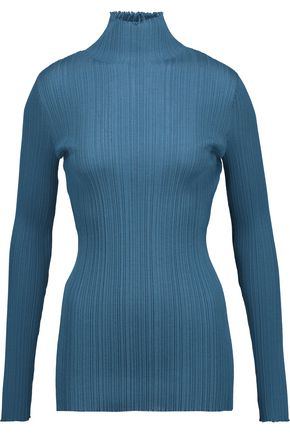 NINA RICCI Ribbed wool-blend turtleneck sweater